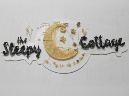 3D printed Sleepy Cottage Logo