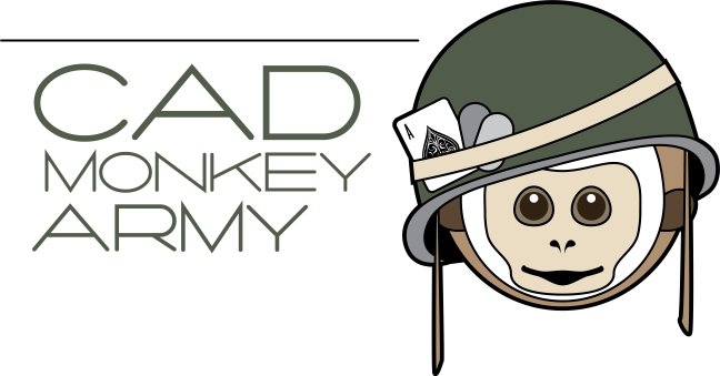 CAD Monkey Army LOGO (white)